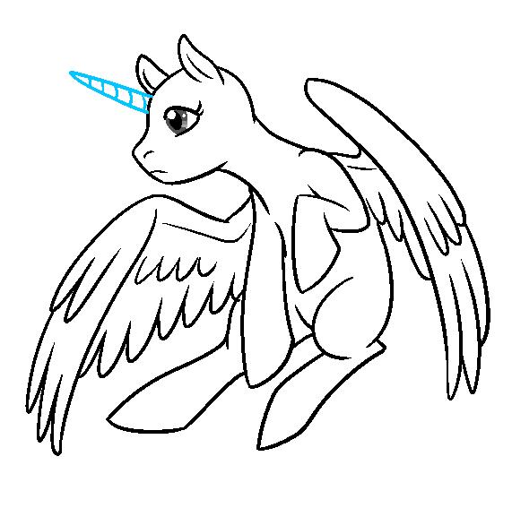 Alicorn Pegasus In Flight Base By The Clockwork Crow On