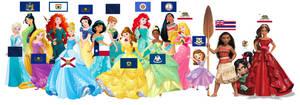 Disney Princess by a State