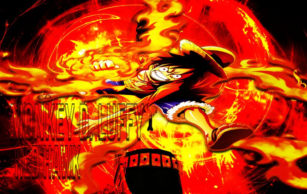 Luffy Red Hawk by GearTor on DeviantArt