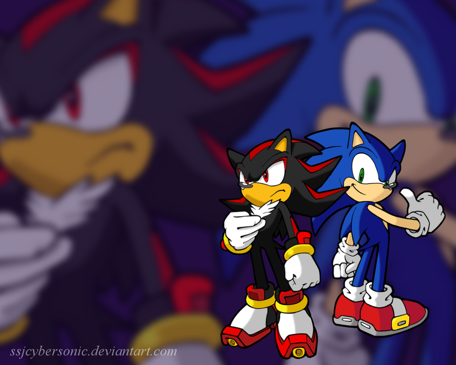 DeviantArt: More Like Sonic and Shadow Wallpaper by SSJCyberSonic