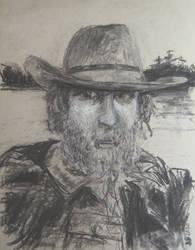 Artist on Lake