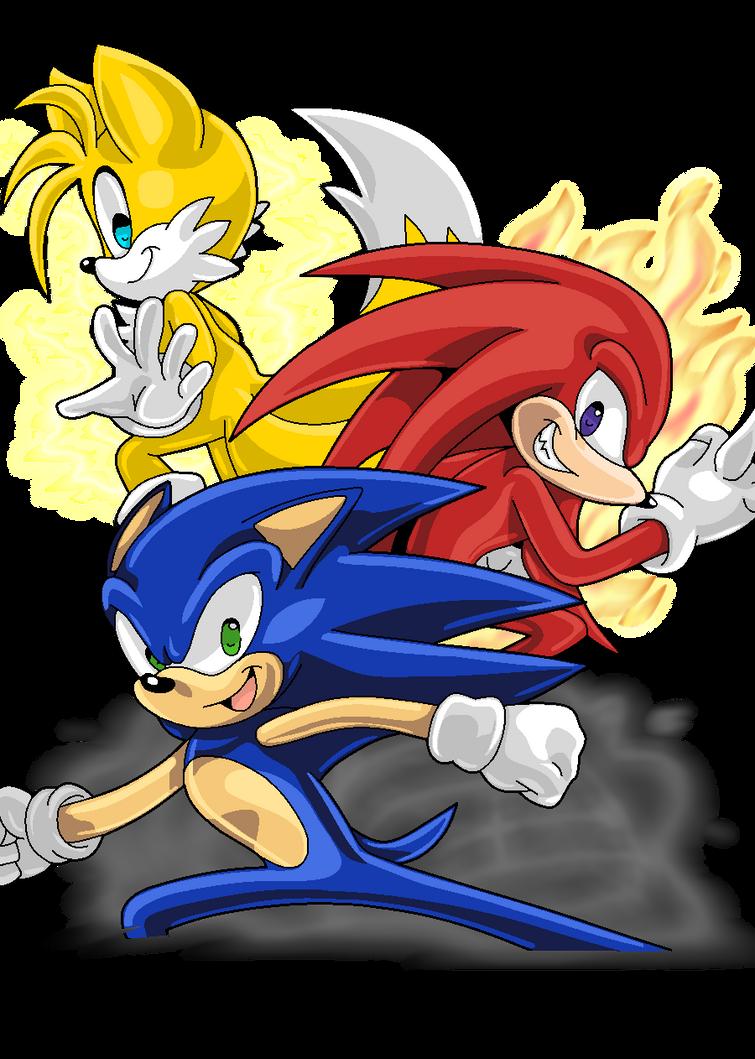 Team Sonic by Shyamiq on DeviantArt