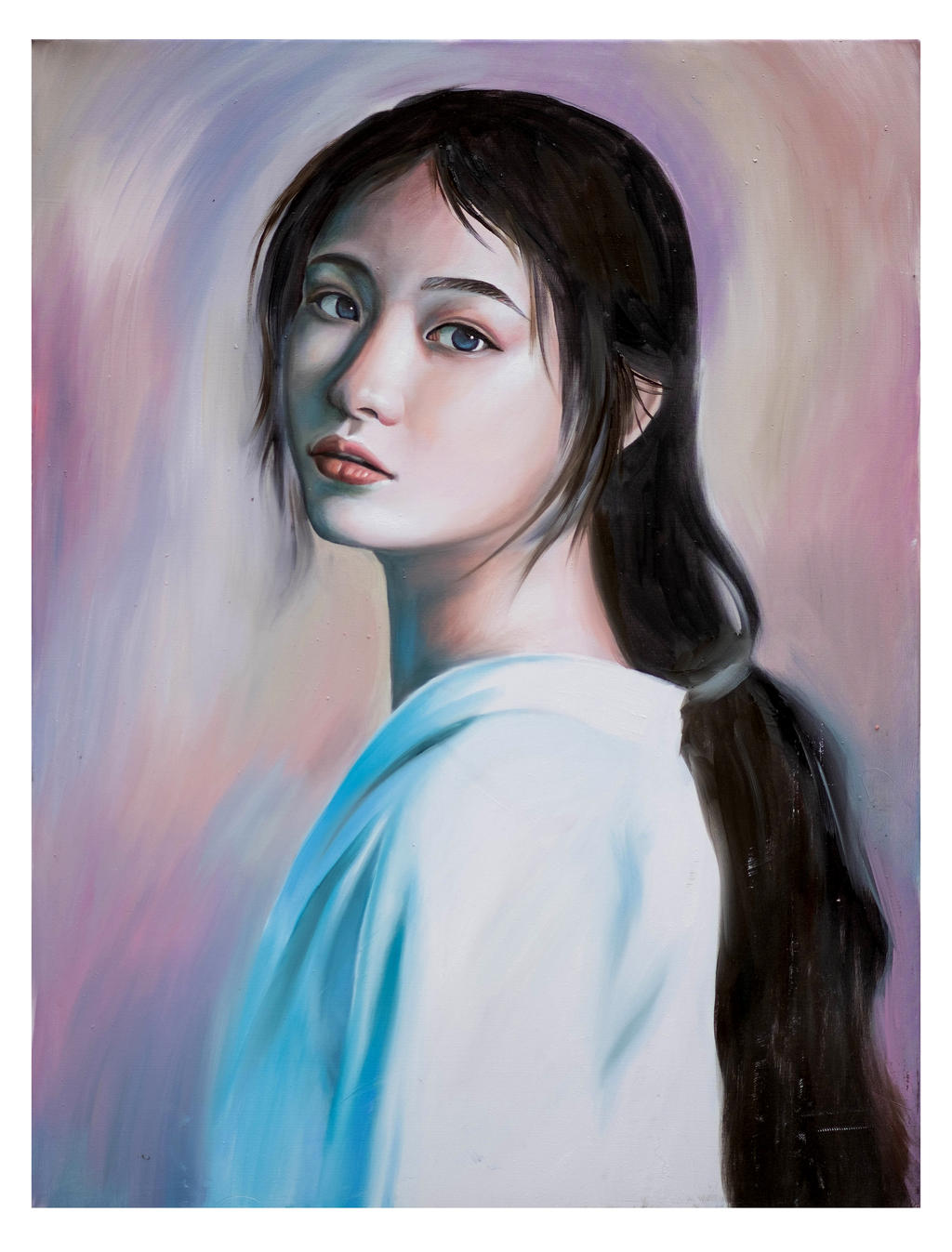 Oil Painting - A Girl In My Dream