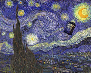 'Starry Night with Blue Box' or 'Vincent Travels'
