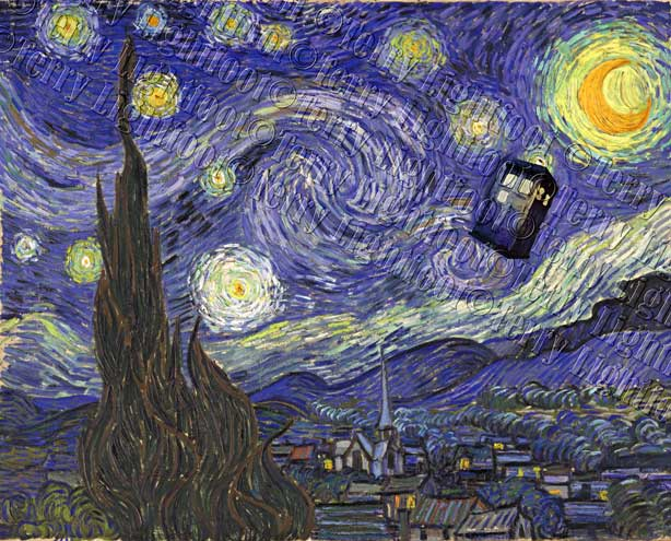 Starry Night with TARDIS by TerryLightfoot