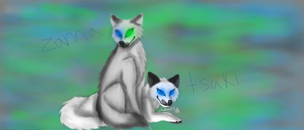 Zanna and Tsuki(WQ characters) by cristalheart7