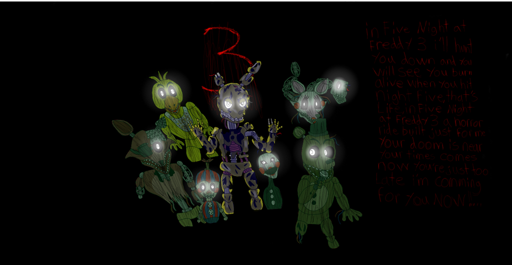 Five Night At Freddy's 3 by cristalheart7