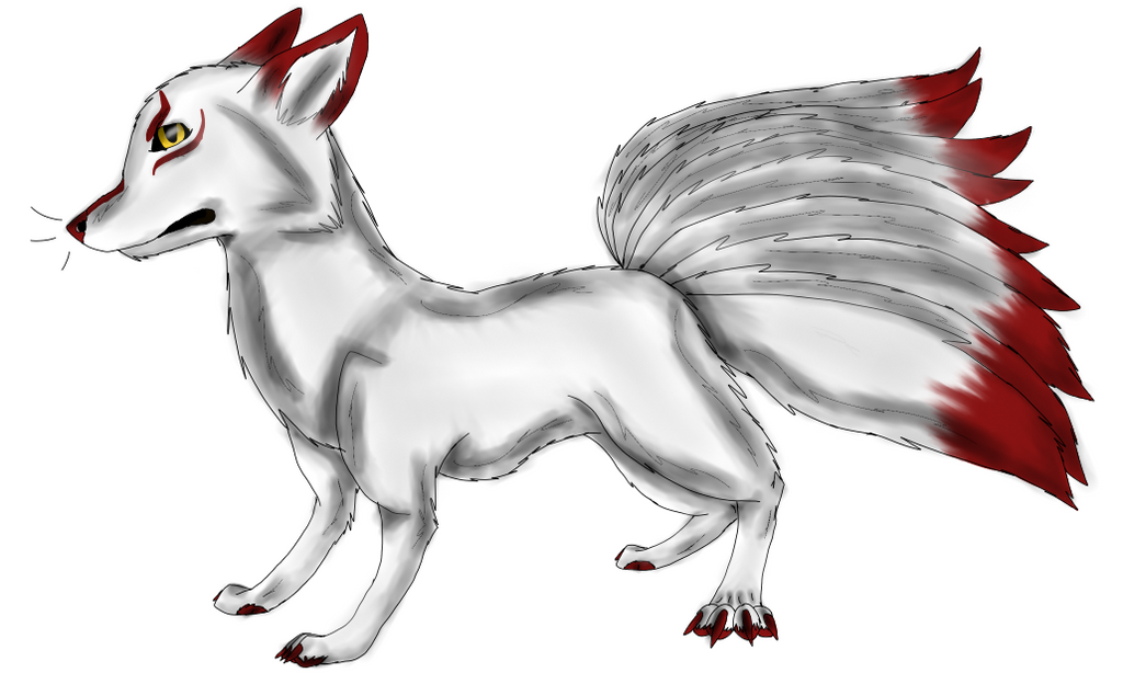Nine Tailed Kitsune by cristalheart7