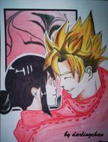 Fanart Goku x ChiChi by darlingchan