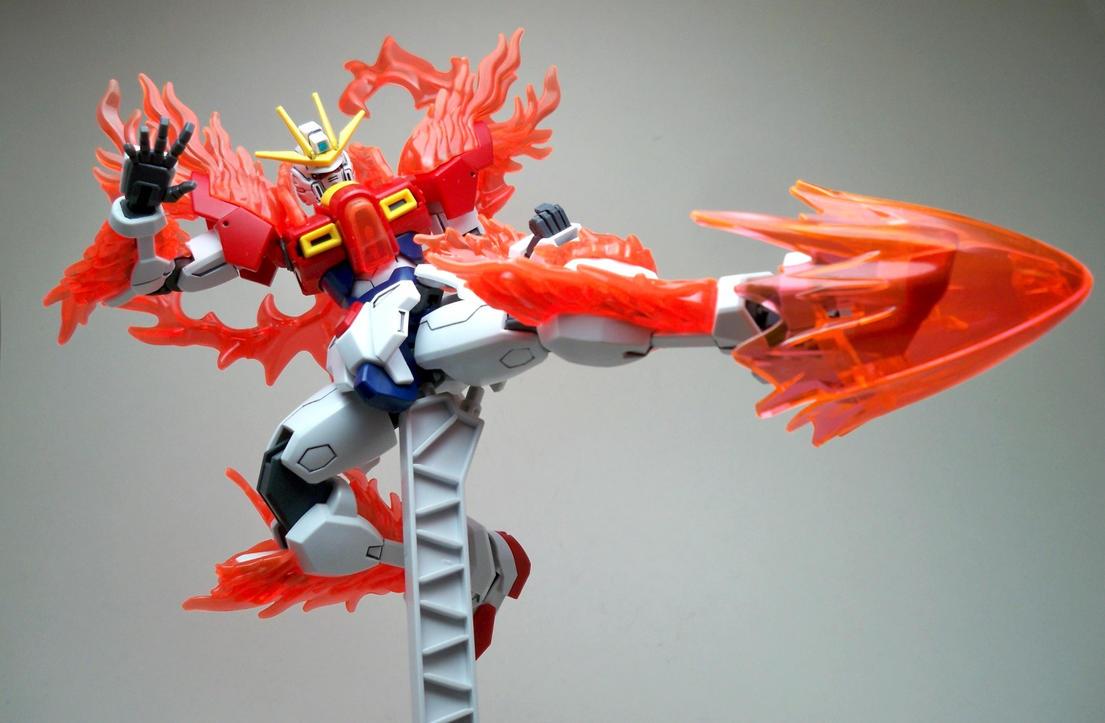 Hgbf Try Burning Gundam 04 By Infinitevirtue On Deviantart