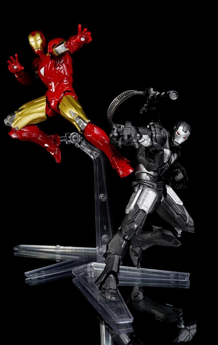 Revol-Mini Iron Man Mark VI and War Machine by Infinitevirtue