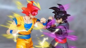 SSG Goku vs Goku Black 01