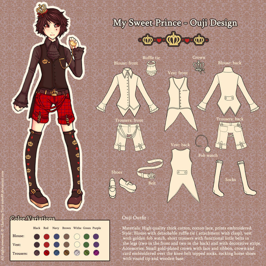 Fashion contest 2017 - My Sweet Prince Ouji Design By Nokecha On Deviantart
