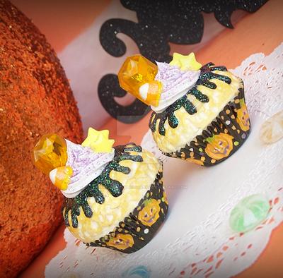 Halloween Cupcake Charms by XxViolentxLolitaxX