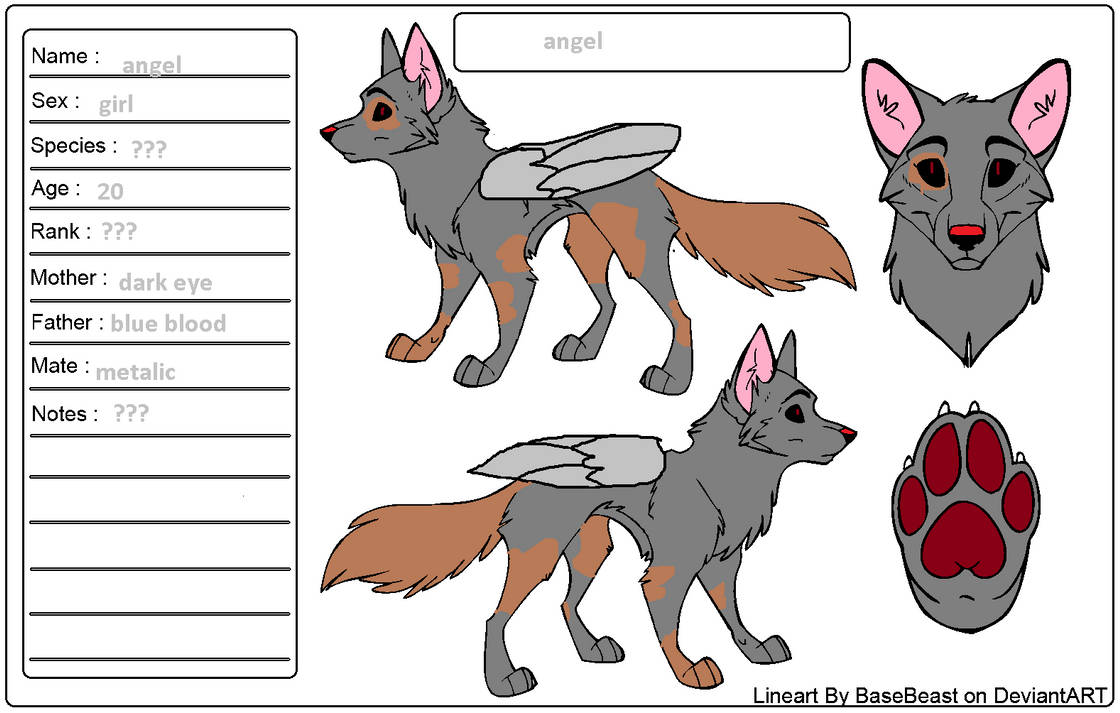 Angel reference ( my official oc )
