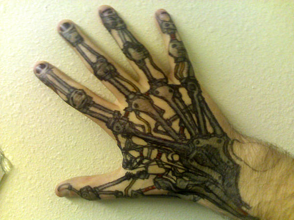 Mechanical hand art - photo#9