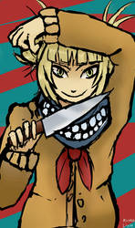 Toga himiko color sketch by kirmalight
