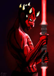 Darth Maul by kirmalight