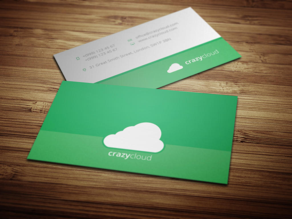 flat design business card template by crazyleafdesign on deviantart