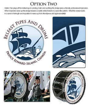 Belfast Pipes and Drums base drum design