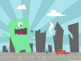 Monster Attack by Davidgtza2