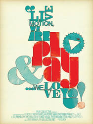 PLAY collective poster design by incogburo