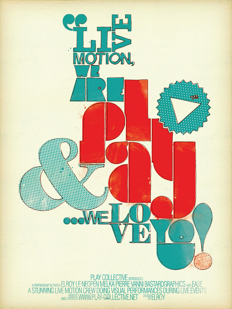 PLAY collective poster design