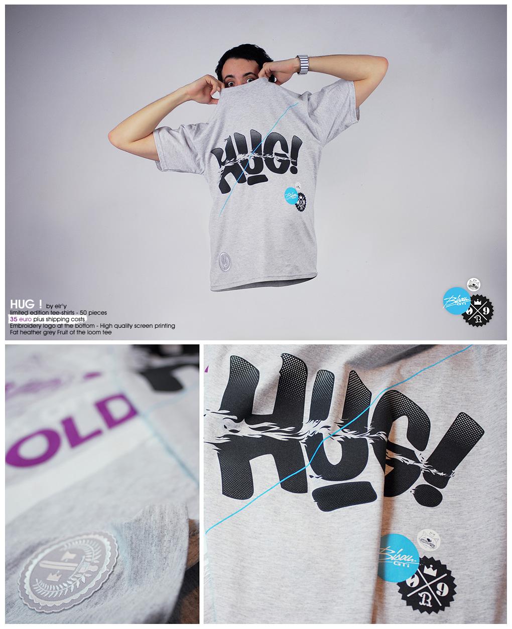 HUG Tee shirt release by incogburo