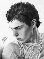 Evan Peters by angiebelikejolie