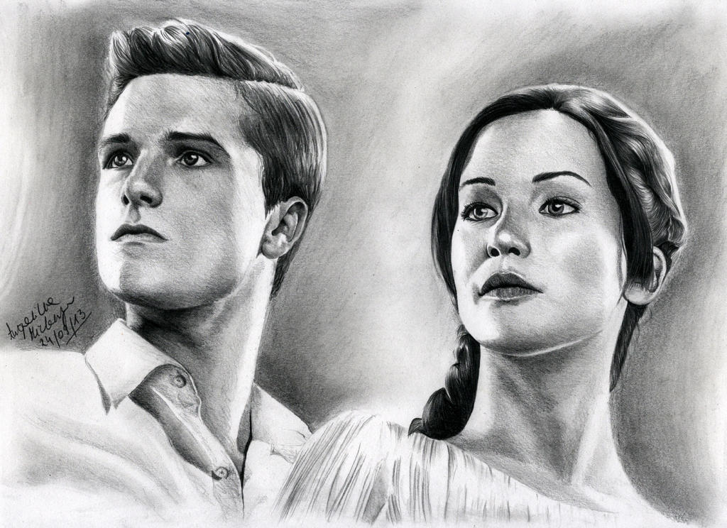 Hunger Games Peeta Drawing Star-Crossed Lo...