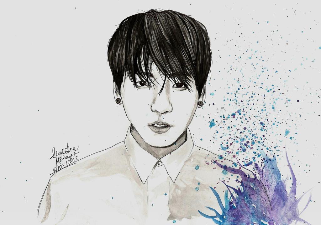 Jungkook Bts Drawings: Jungkook By Angiebelikejolie On DeviantArt