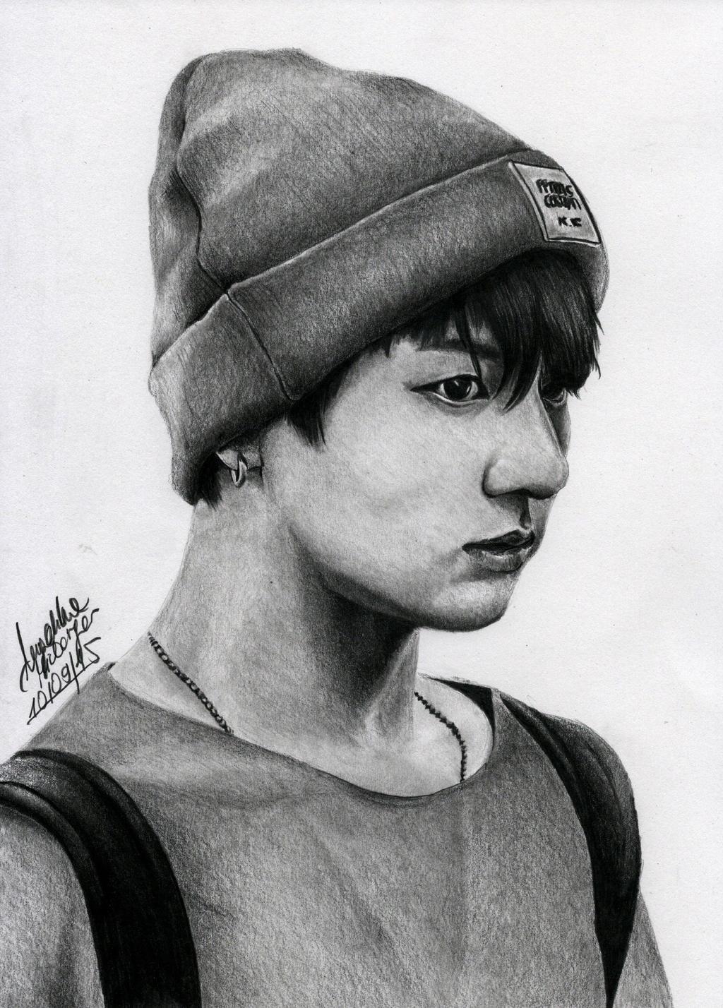 Jungkook Bts Drawings: BTS Jungkook By Angiebelikejolie On DeviantArt