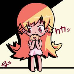Shinobu Oshino (30DaysOfSketches 21) by KirbyIwaki