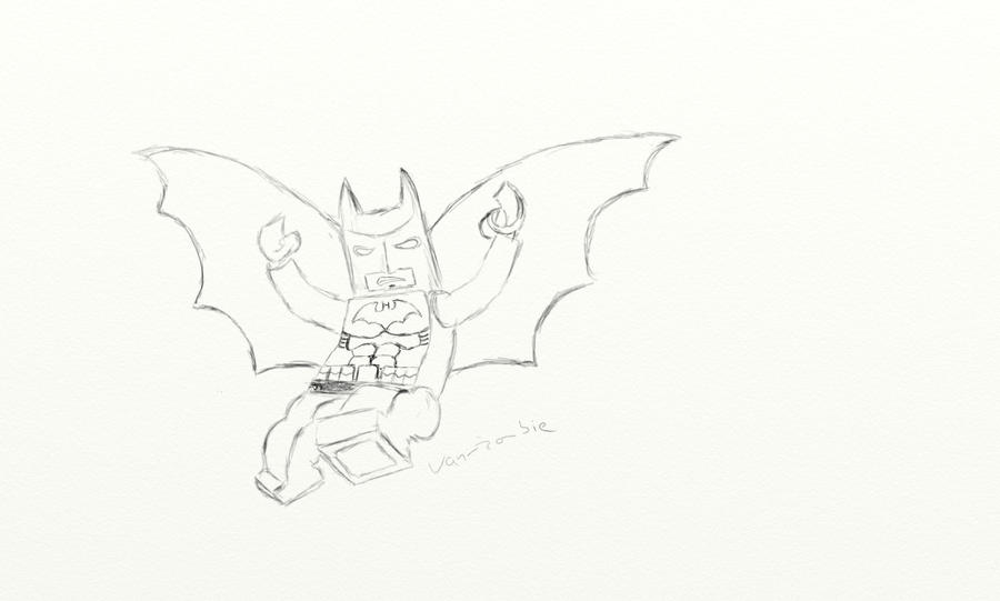 Lego Batman Cover - Sketch By Van-zombie On DeviantArt