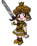 Chibi Galaxia and sword