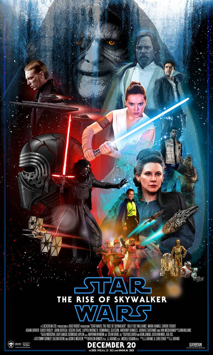 Star Wars The Rise Of Skywalker Poster By Brutalb330 On Deviantart