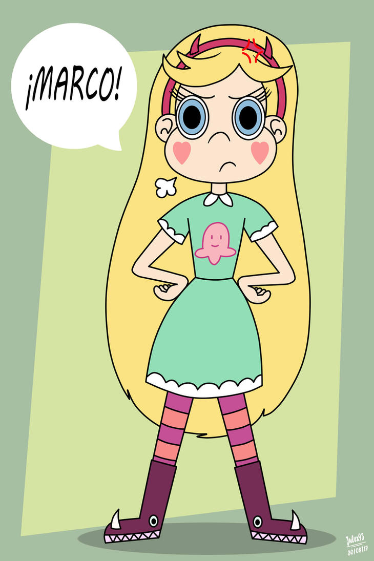 Star is angry with marco (color) by Julex93 on DeviantArt