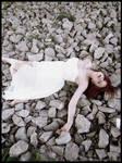Laying on rocks