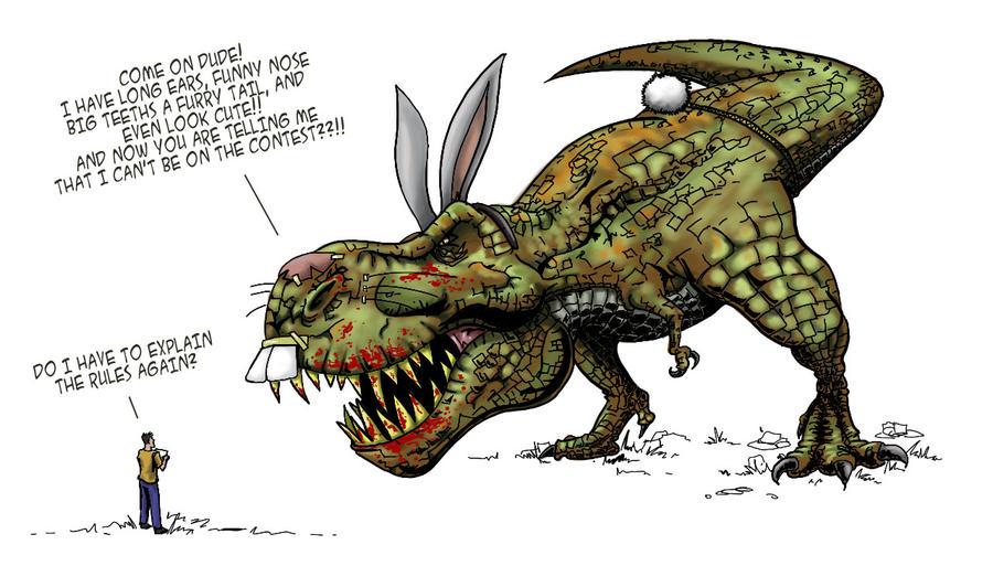Prehistoric Carnivorous Bunny by zfura