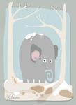 winter elephant
