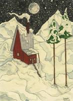 christmas card by macen
