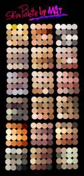 Skin Palette for MyPaint by MeryAlisonThompson