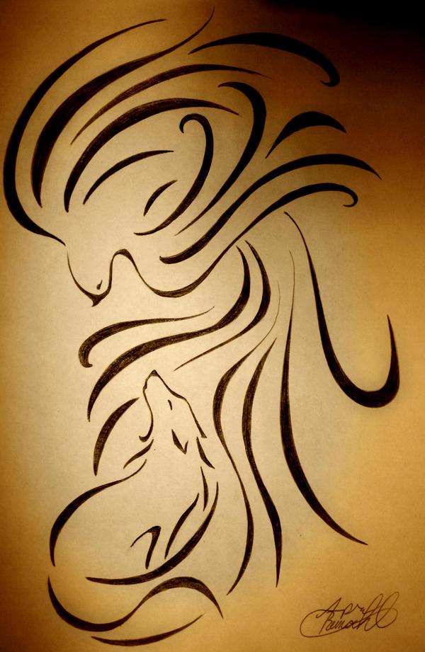 ancient scroll phoenix by manic goose on deviantart. Black Bedroom Furniture Sets. Home Design Ideas