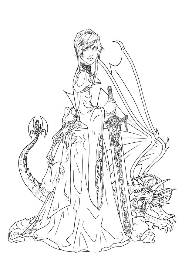 Dragon And The Maiden By Manic Goose On Deviantart