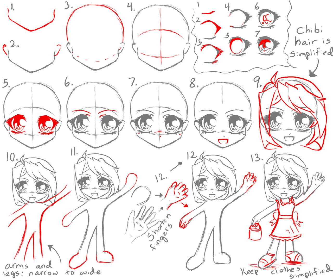 how to draw kid chibi