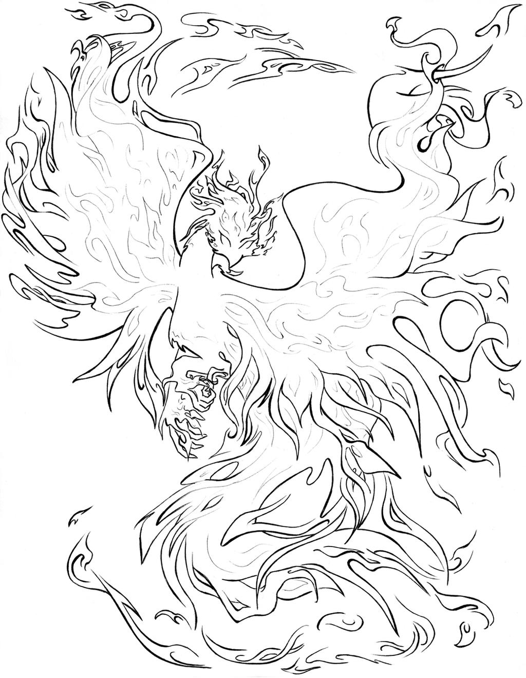 Coloring Pages Phoenix: Fawkes The Phoenix Coloring Pages Coloring Pages