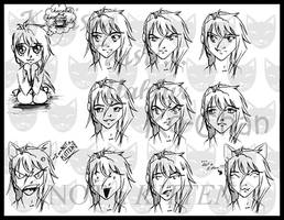 The Expressions of a Kitten by manic-goose