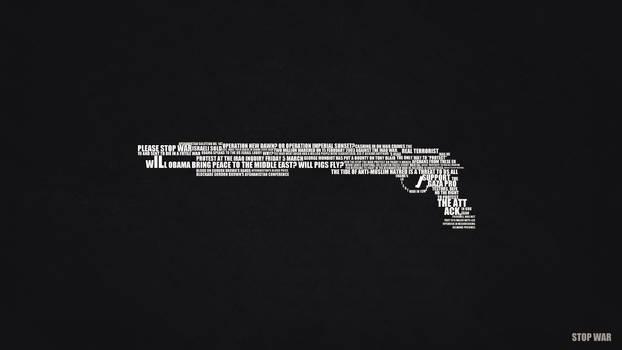 Stop War Text Art