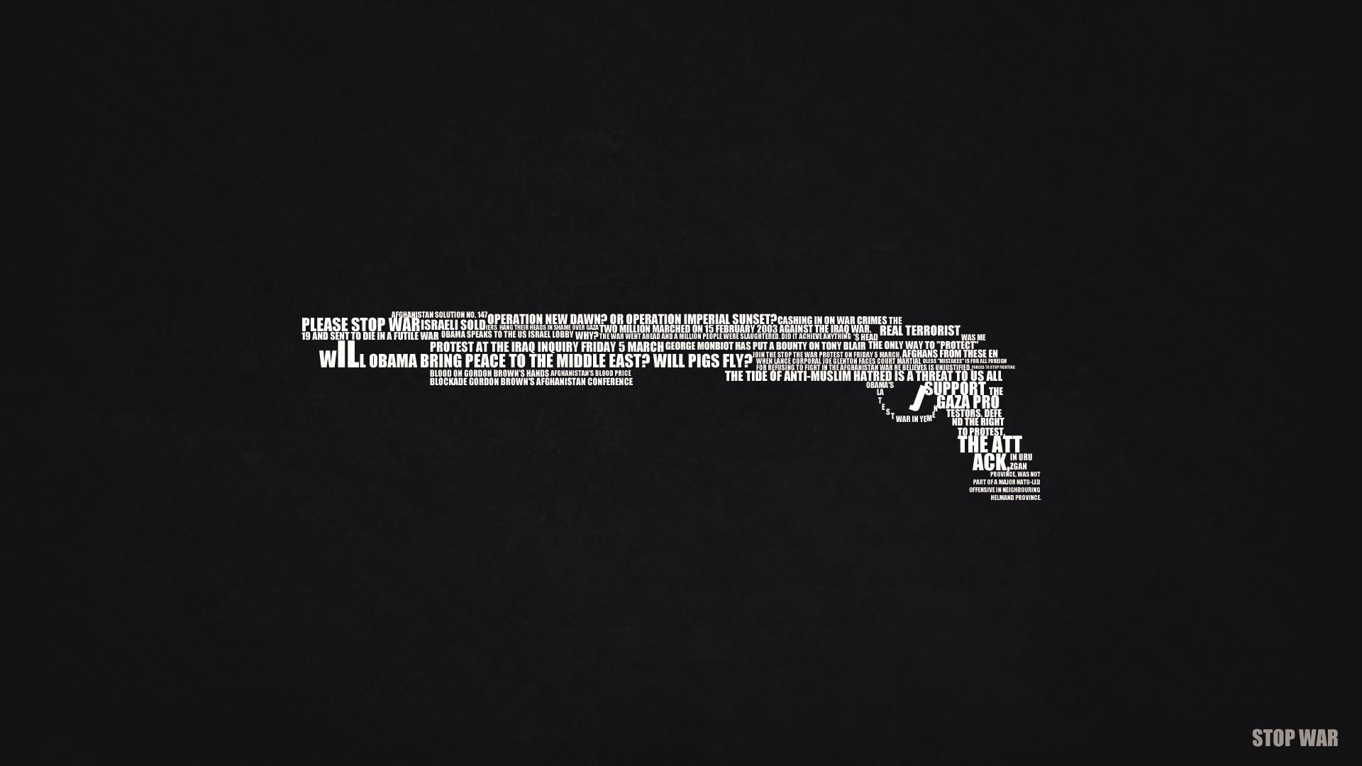 Stop War Text Art by D4rK3N