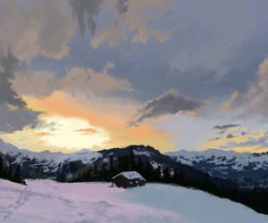 Painting Practice-Snow Landscape